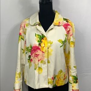 🌺 Juicy Couture Off White Floral Jacket 🌺
